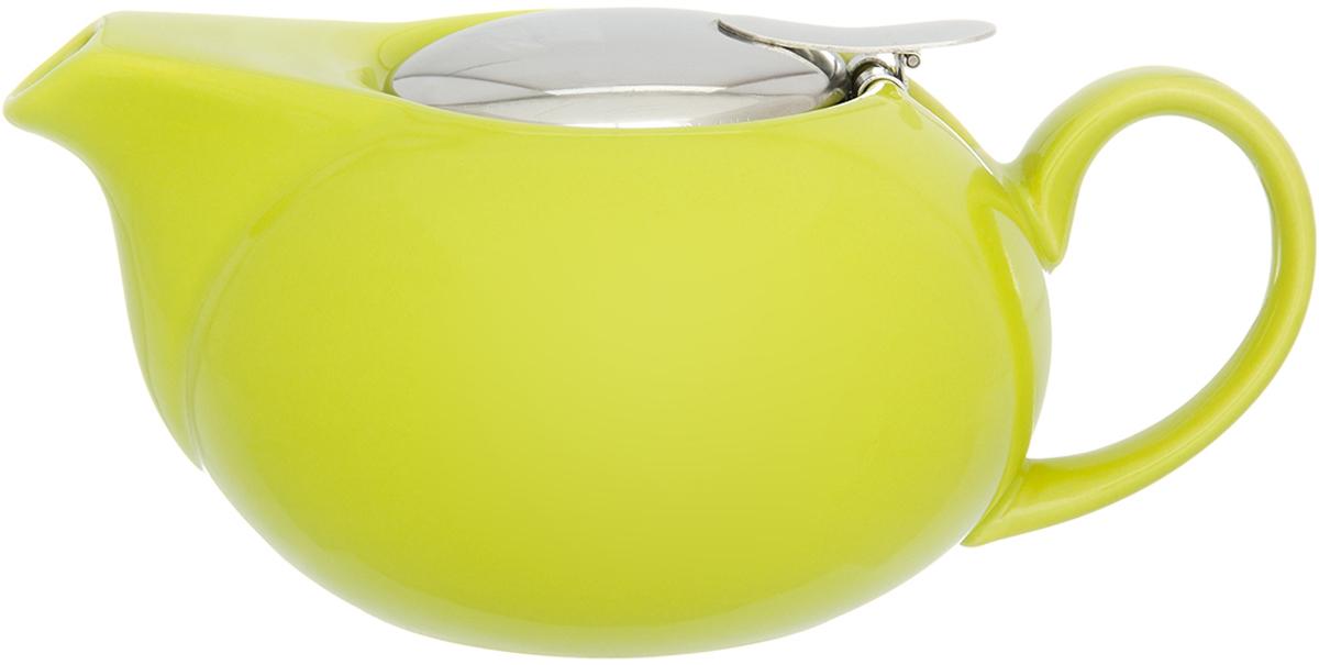 Чайник заварочный Elan Gallery, с крышкой и ситом, цвет: желтый, 550 мл630045Изящный вместительный чайник с металлическим ситом, удобной ручкой и широким носиком. В основании носика сделаны фильтрующие отверстия от попадания чаинок в чашку. Изделие имеет подарочную упаковку.