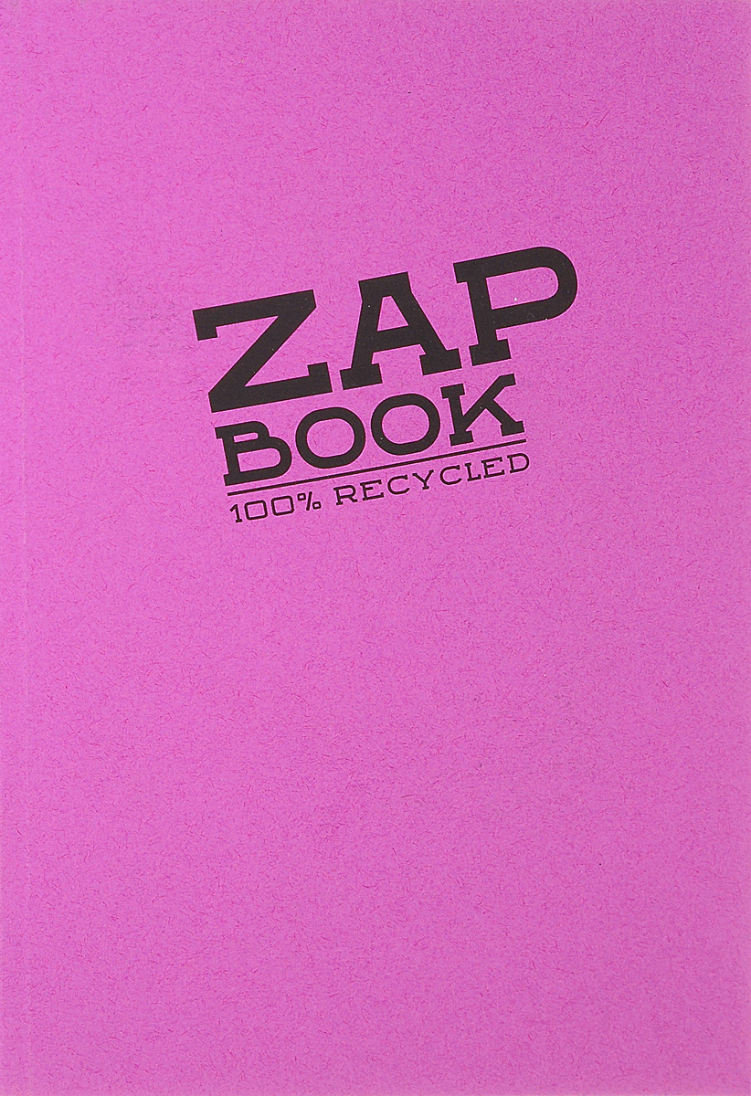 Блокнот Clairefontaine Zap Book, цвет: малиновый, формат A5, 160 листов блокнот собаки бросай дела a5 64 стр
