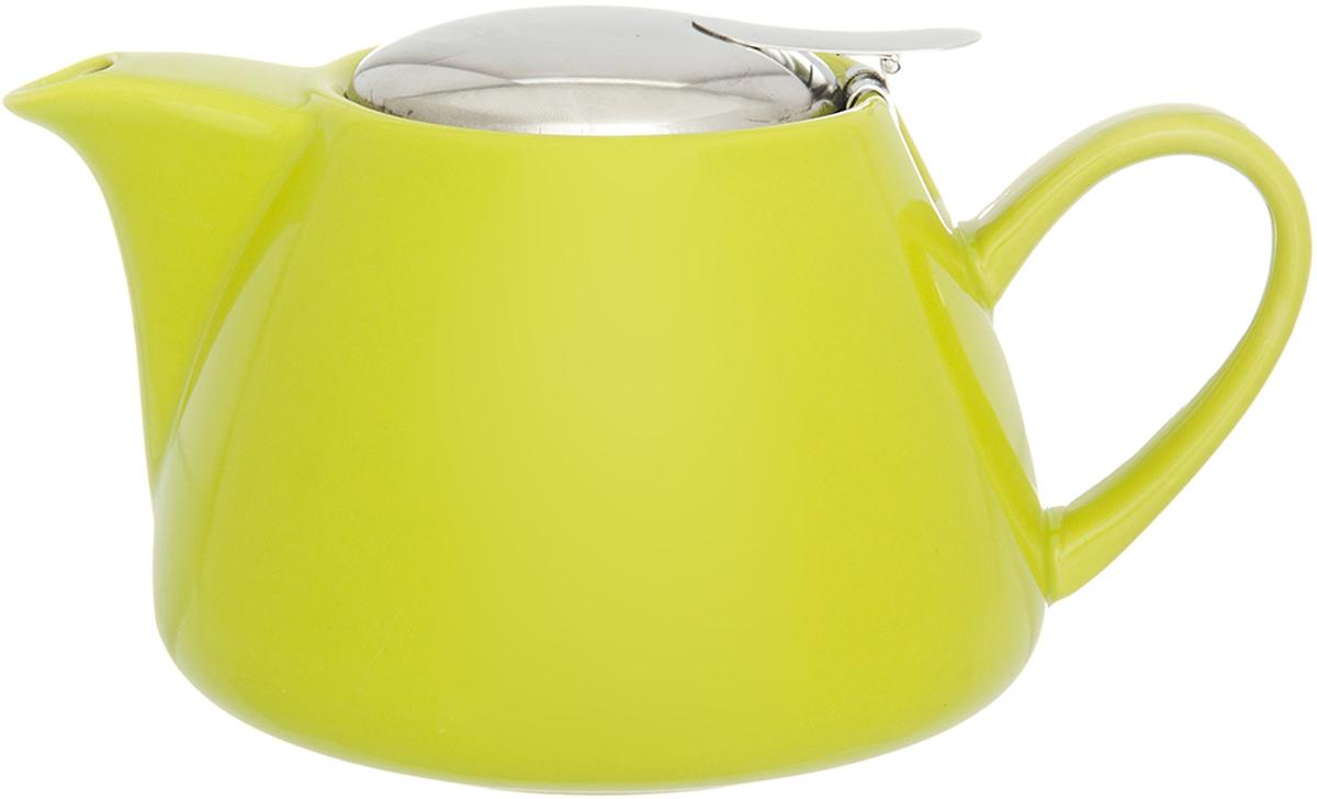 Чайник заварочный Elan Gallery, с крышкой и ситом, цвет: желтый, 700 мл630053Изящный вместительный чайник с металлическим ситом, удобной ручкой и широким носиком. В основании носика сделаны фильтрующие отверстия от попадания чаинок в чашку. Изделие имеет подарочную упаковку.