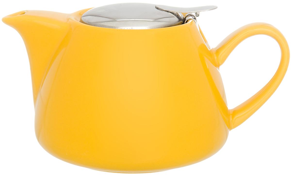 Чайник заварочный Elan Gallery, с крышкой и ситом, цвет: желтый, 700 мл630051Изящный вместительный чайник Elan Gallery с металлическим ситом, удобной ручкой и широкимносиком, выполнен из высококачественного фарфора. В основании носика сделаныфильтрующие отверстия от попадания чаинок в чашку.Эта модель станет замечательной находкой для себя или презентом родным.Изделие имеет подарочную упаковку.