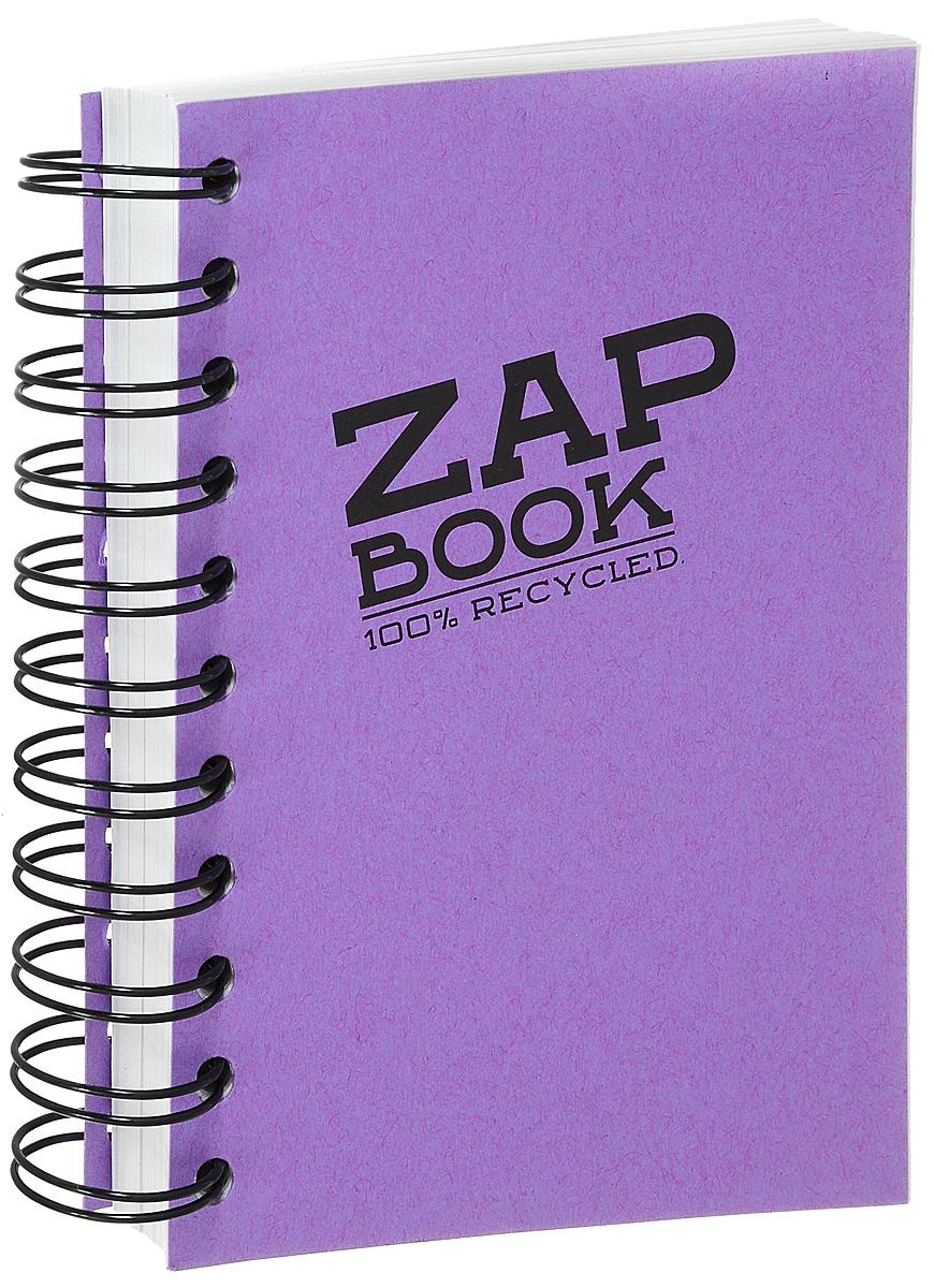 Блокнот Clairefontaine Zap Book, на спирали, цвет: фиолетовый, формат A6, 160 листов8359С_фиолетовыйБлокнот Clairefontaine Zap Book, на спирали, цвет: фиолетовый, формат A6, 160 листов