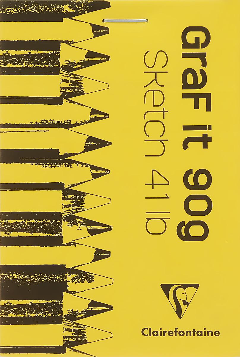 Блокнот Clairefontaine Graf It. Вид 2, для сухих техник, с перфорацией, цвет: зеленый 2, формат A7,8354С_желтыйБлокнот Clairefontaine Graf It. Вид 2, для сухих техник, с перфорацией, цвет: зеленый 2, формат A7,