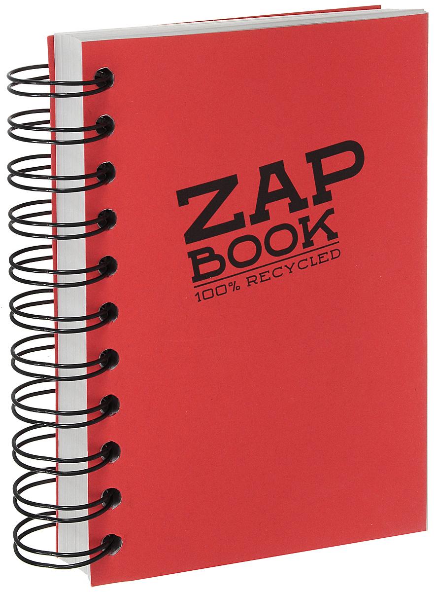 Блокнот Clairefontaine Zap Book, на спирали, цвет:красный, формат A6, 160 листов8353С_красныйБлокнот Clairefontaine Zap Book, на спирали, цвет:красный, формат A6, 160 листов