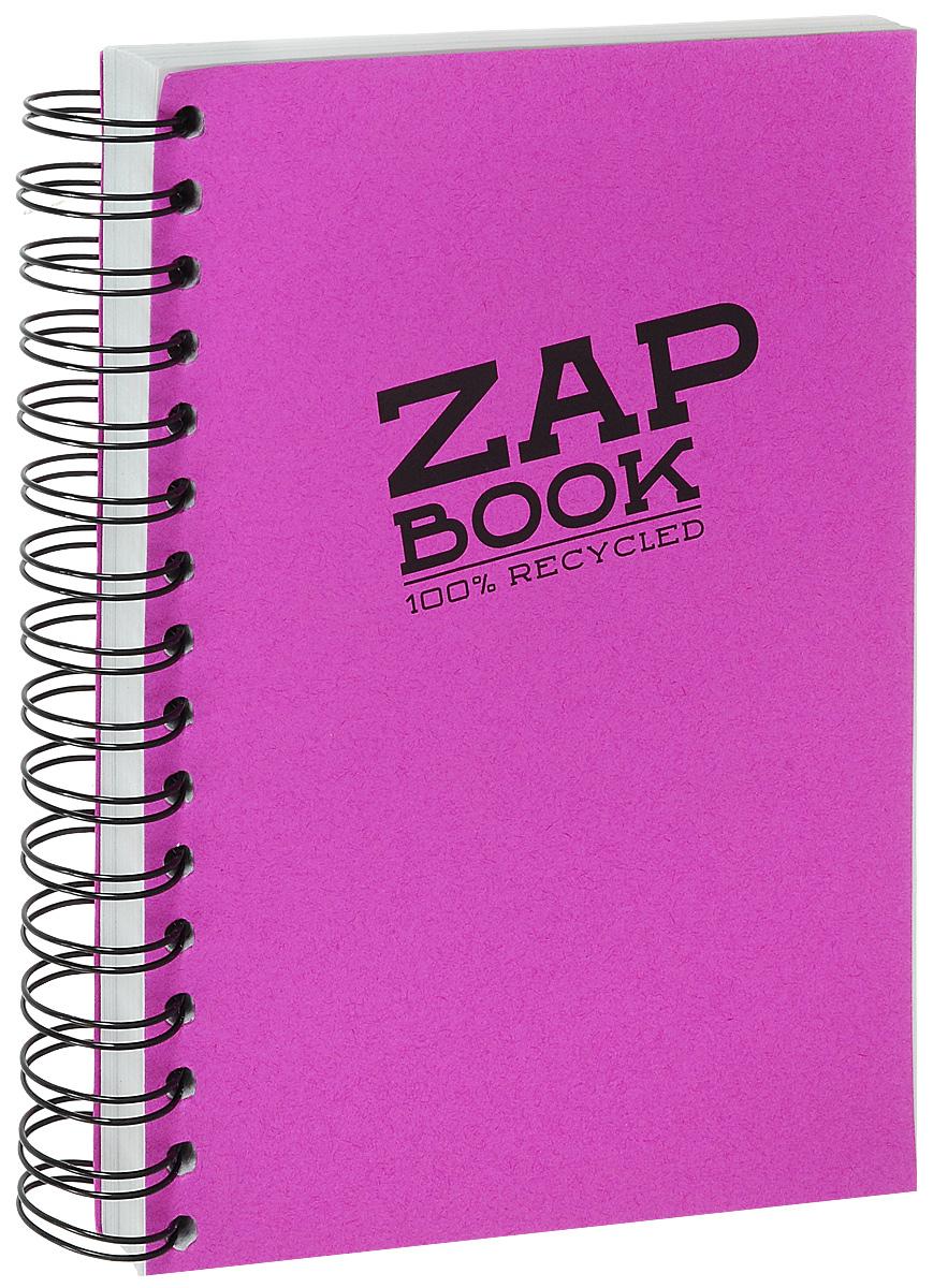 Блокнот Clairefontaine Zap Book, на спирали, цвет: малиновый, формат A5, 160 листов8360С_малиновыйБлокнот Clairefontaine Zap Book, на спирали, цвет: малиновый, формат A5, 160 листов