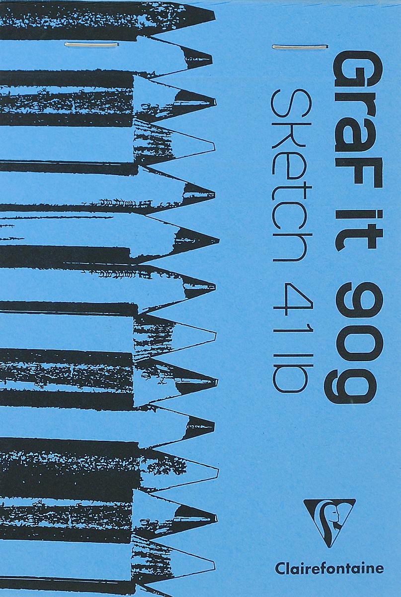Блокнот Clairefontaine Graft It, горизонтальный, на скобах, цвет: голубой 2, 80 листов96619_голубой 2Блокнот Clairefontaine Graft It, горизонтальный, на скобах, цвет: голубой 2, 80 листов