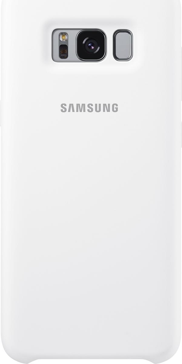 Samsung Silicone Cover чехол для Galaxy S8, WhiteSAM-EF-PG950TWEGRUЭластичный ипрочный чехол, выполненный изсиликона. Легкий итонкий, онпрактически неизменяет размеры телефона, плотно охватывая инадежно удерживая его внутри. Отверстия идеально совпадают сразъемами иэлементами управления. Таким образом, предотвращается преждевременный износ смартфона, апользователю обеспечивается максимальный комфорт.