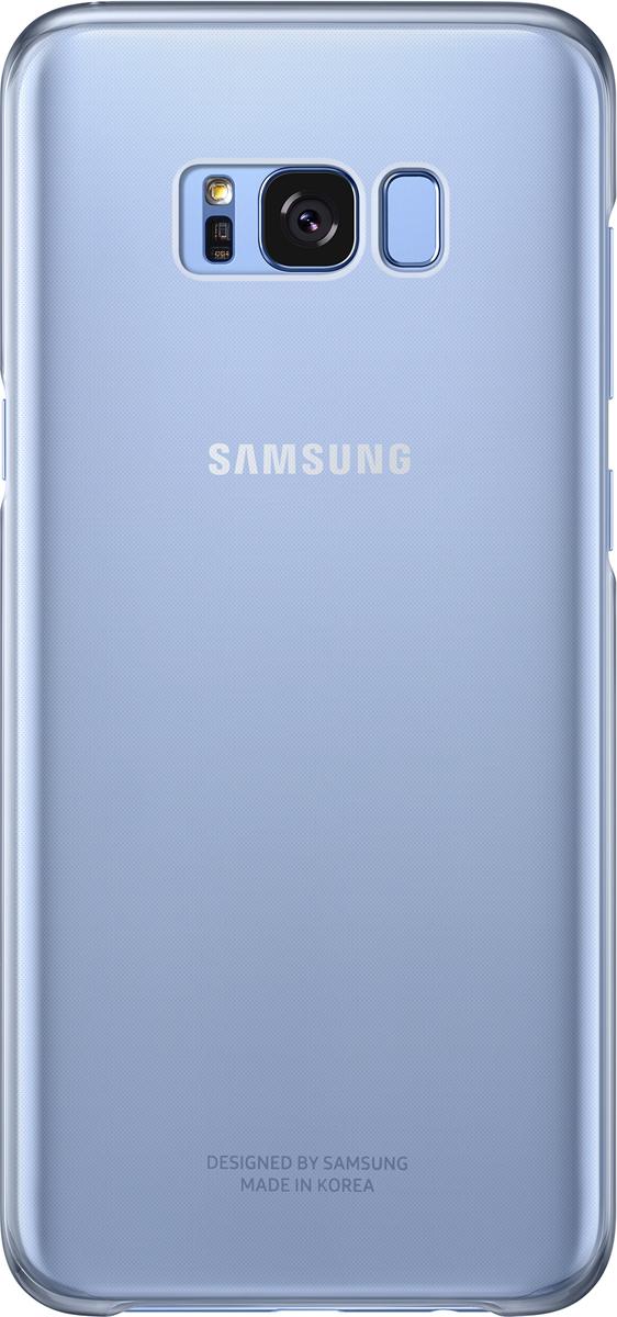 Samsung Clear Cover чехол для Galaxy S8+, BlueSAM-EF-QG955CLEGRUОригинальный чехол обеспечит надежную защиту задней крышке иторцам устройства. Несильно увеличивает размеры смартфона. Оснащен необходимыми отверстиями под порты икамеру.
