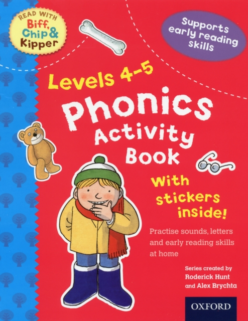 Oxford Reading Tree Read With Biff, Chip, and Kipper: Phonics Activity Sticker Book letter and number print round neck long sleeve sweatshirt for men