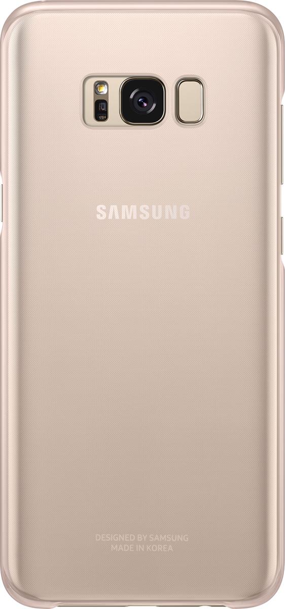 Samsung Clear Cover чехол для Galaxy S8+, PinkSAM-EF-QG955CPEGRUОригинальный чехол обеспечит надежную защиту задней крышке иторцам устройства. Несильно увеличивает размеры смартфона. Оснащен необходимыми отверстиями под порты икамеру.