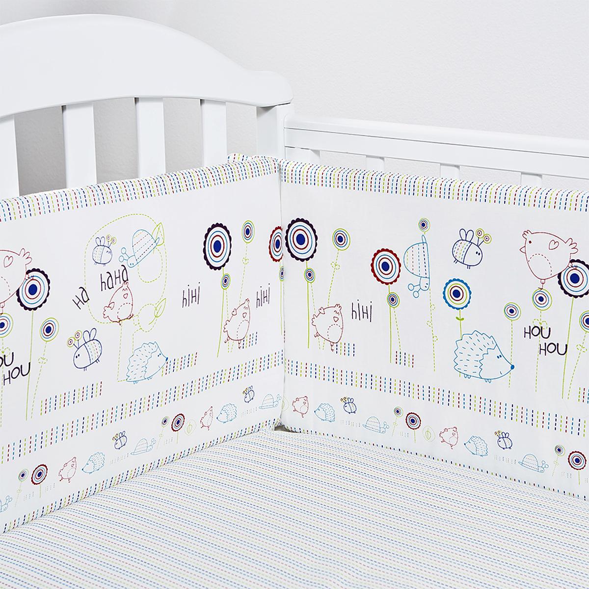 Baby Nice Борт комбинированный цвет белый S911 -  Бортики, бамперы
