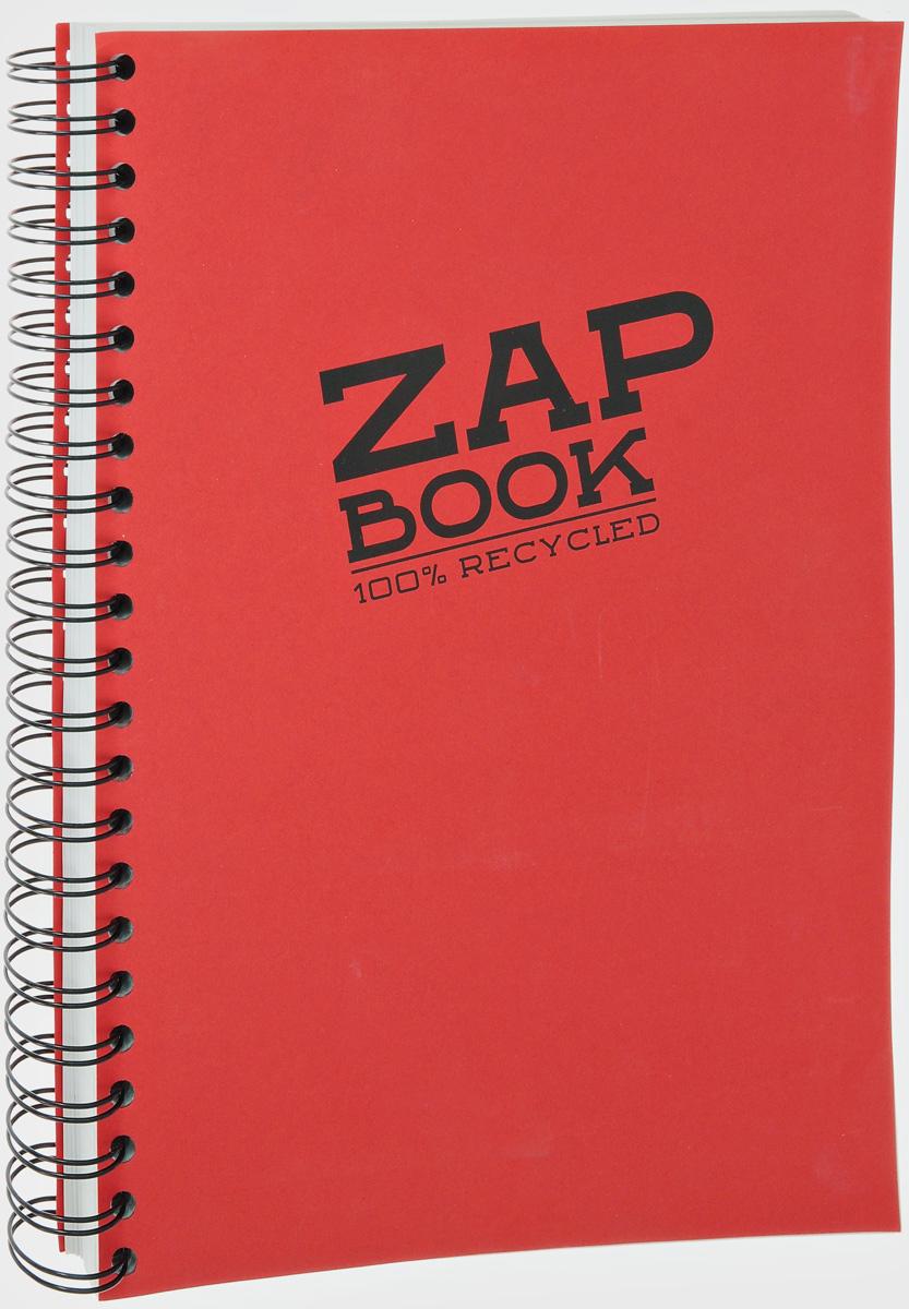 Блокнот Clairefontaine Zap Book, на спирали, цвет: красный, формат A4, 160 листов8354С_красныйБлокнот Clairefontaine Zap Book, на спирали, цвет: красный, формат A4, 160 листов