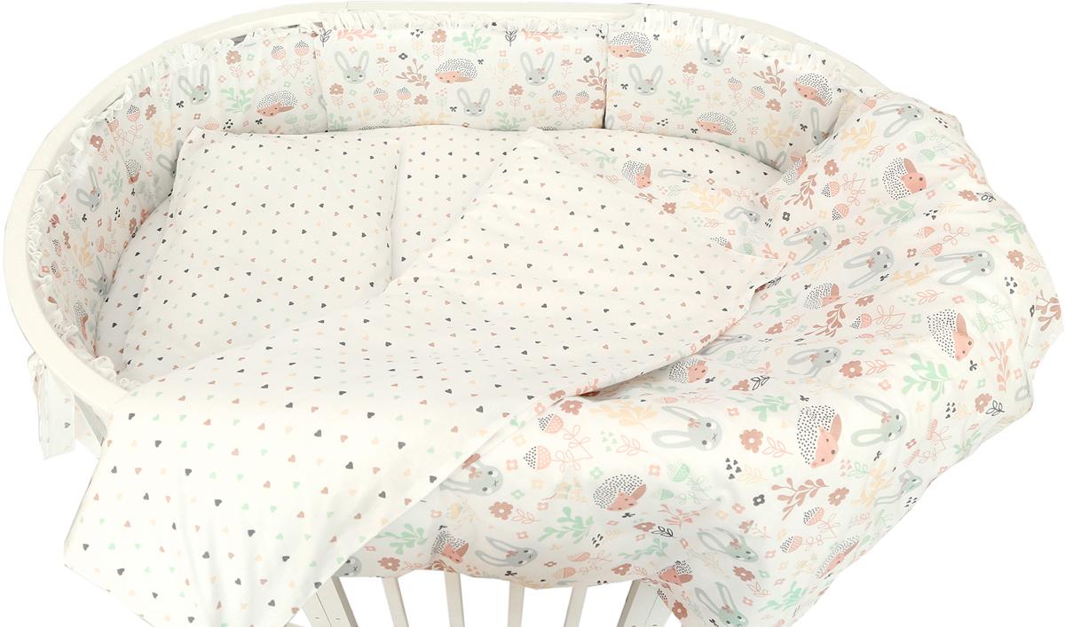 Baby Nice Комплект постельного белья детский Лесная поляна цвет бежевый C531/1C531/1Постельное бельё, сшито из качественной бязи импортного производства. Бельё не деформируется, цвет не выстирывается.