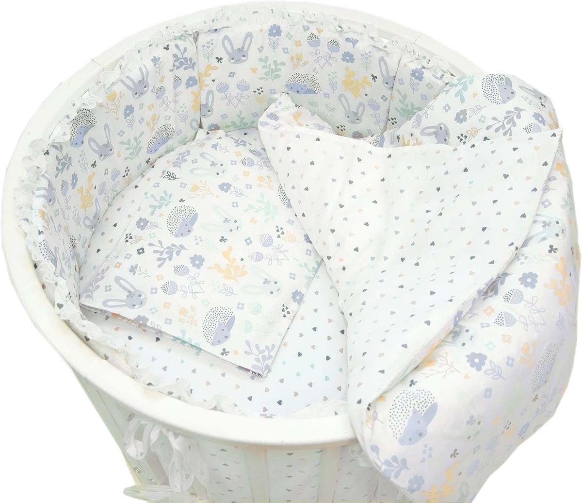 Baby Nice Комплект постельного белья детский Лесная поляна цвет голубой C431/1C431/1Постельное бельё, сшито из качественной бязи импортного производства. Бельё не деформируется, цвет не выстирывается.