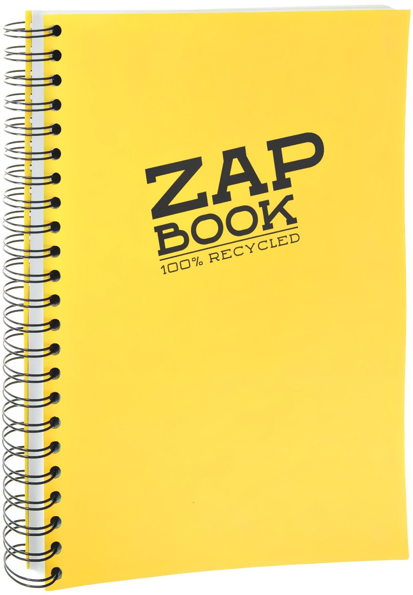 Блокнот Clairefontaine Zap Book, на спирали, цвет: желтый, формат A4, 160 листов8354С_желтыйБлокнот Clairefontaine Zap Book, на спирали, цвет: желтый, формат A4, 160 листов