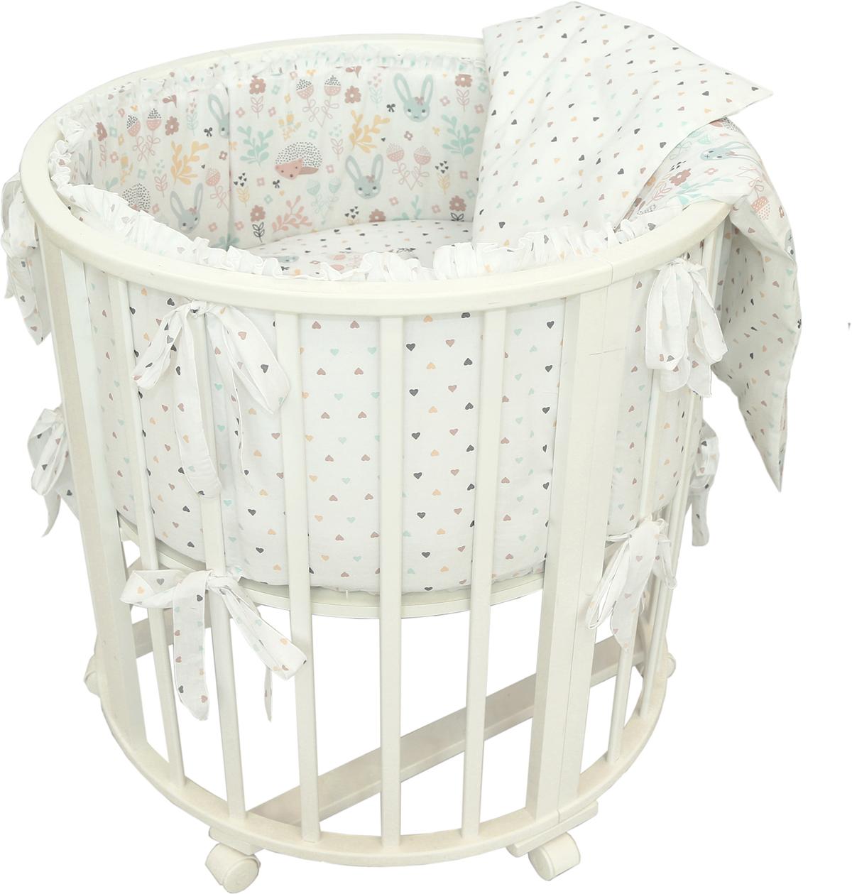 Baby Nice Комплект постельного белья детский Лесная поляна цвет розовый C431/1C431/1Постельное бельё, сшито из качественной бязи импортного производства. Бельё не деформируется, цвет не выстирывается.