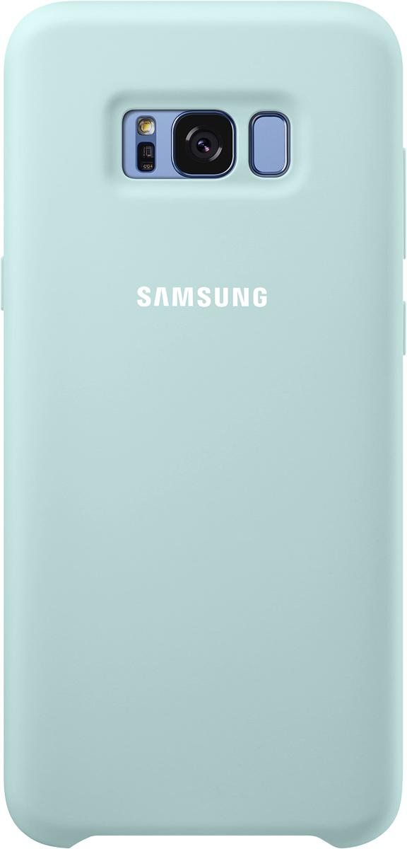 Samsung Silicone Cover чехол для Galaxy S8+, BlueSAM-EF-PG955TLEGRUЭластичный ипрочный чехол, выполненный изсиликона. Легкий итонкий, онпрактически неизменяет размеры телефона, плотно охватывая инадежно удерживая его внутри. Отверстия идеально совпадают сразъемами иэлементами управления. Таким образом, предотвращается преждевременный износ смартфона, апользователю обеспечивается максимальный комфорт.