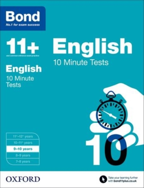 Bond 11+: 10 Minute Tests: 9-10 years gray e o sullivan n practice tests for the pet teacher s book 1 preliminary english test книга для учителя