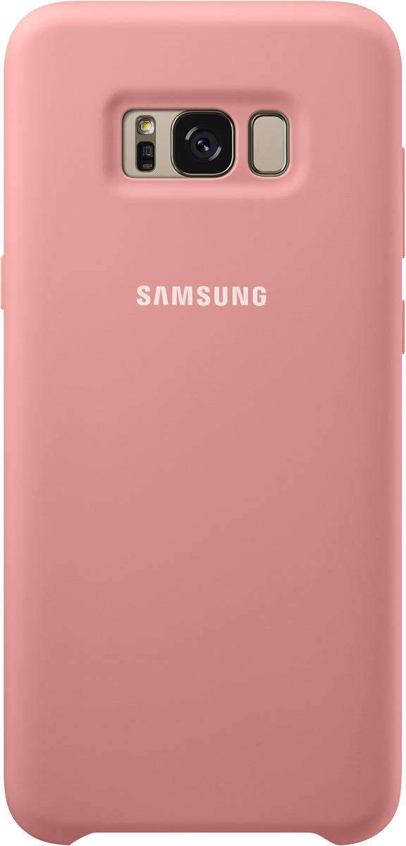 Samsung Silicone Cover чехол для Galaxy S8+, PinkSAM-EF-PG955TPEGRUЭластичный ипрочный чехол, выполненный изсиликона. Легкий итонкий, онпрактически неизменяет размеры телефона, плотно охватывая инадежно удерживая его внутри. Отверстия идеально совпадают сразъемами иэлементами управления. Таким образом, предотвращается преждевременный износ смартфона, апользователю обеспечивается максимальный комфорт.