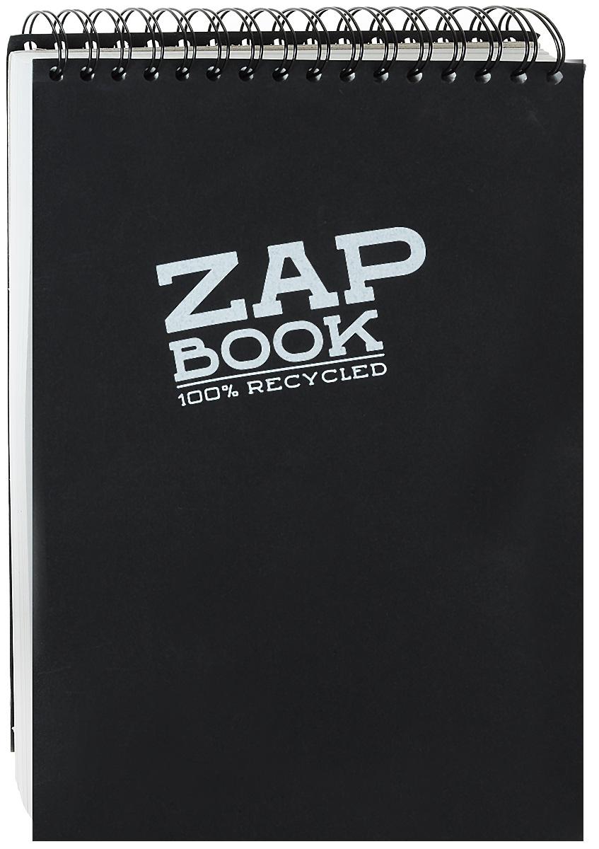 Блокнот Clairefontaine Zap Book, на спирали, цвет: черный, формат A4, 160 листов8363С_черный 2Блокнот Clairefontaine Zap Book, на спирали, цвет: черный, формат A4, 160 листов