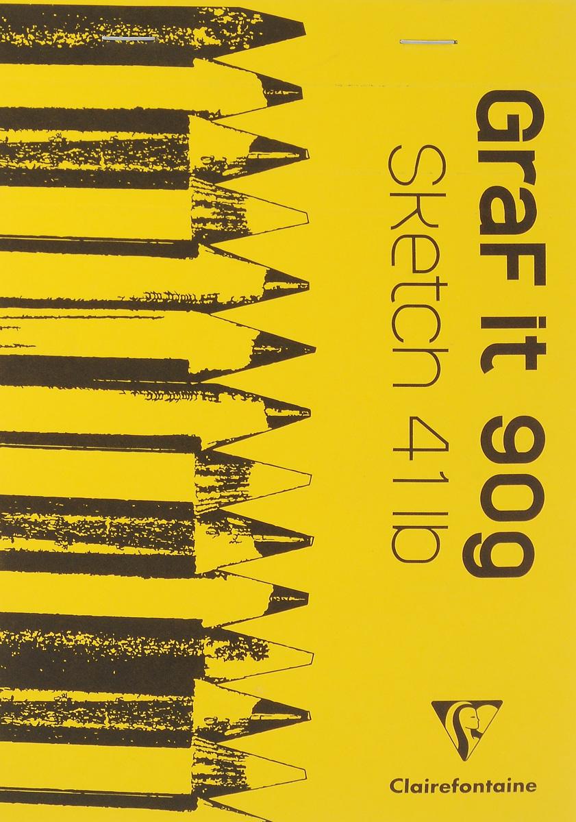 Блокнот Clairefontaine Graf It, для сухих техник, с перфорацией, цвет: желтый 2, формат A5, 80 лист96621С_желтый 2Блокнот Clairefontaine Graf It, для сухих техник, с перфорацией, цвет: желтый 2, формат A5, 80 лист