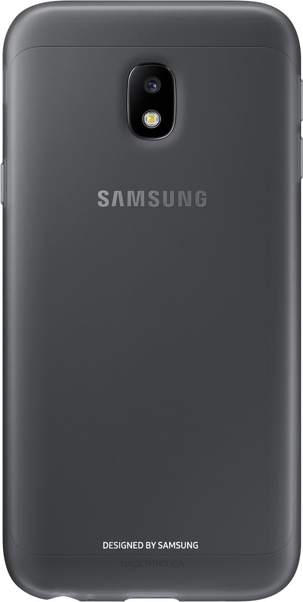 Samsung Jelly Cover чехол для Galaxy J3 (2017), BlackSAM-EF-AJ330TBEGRUОтличный чехол-накладка, который сможет защитить заднюю часть смартфона отпотертостей, царапин, грязи, пыли илегких ударов. Чехол практически неувеличивает габариты ивес устройства.