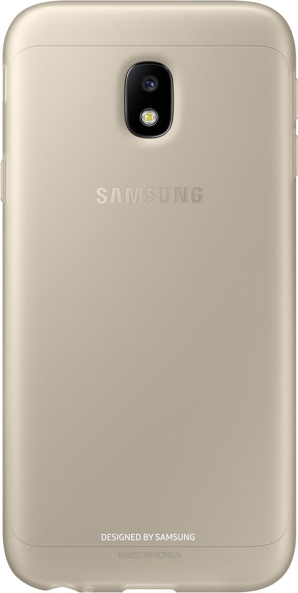 Samsung Jelly Cover чехол для Galaxy J3 (2017), GoldSAM-EF-AJ330TFEGRUОтличный чехол-накладка, который сможет защитить заднюю часть смартфона отпотертостей, царапин, грязи, пыли илегких ударов. Чехол практически неувеличивает габариты ивес устройства.