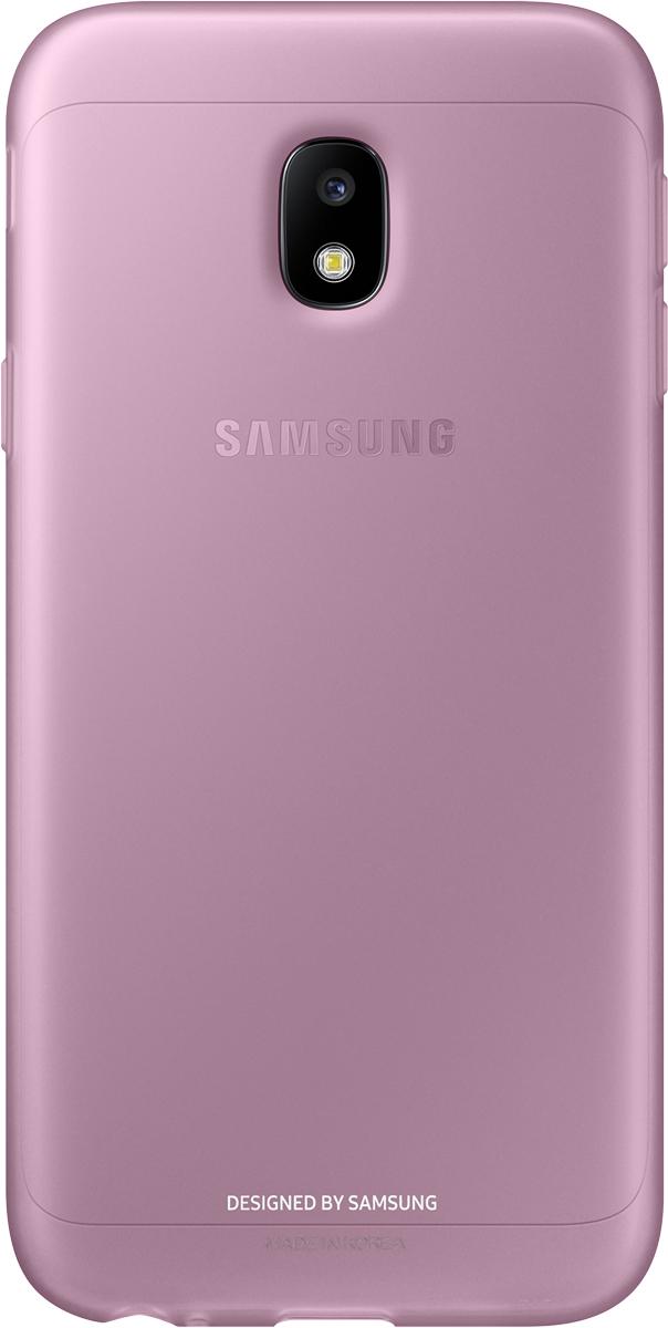 Samsung Jelly Cover чехол для Galaxy J3 (2017), PinkSAM-EF-AJ330TPEGRUОтличный чехол-накладка, который сможет защитить заднюю часть смартфона отпотертостей, царапин, грязи, пыли илегких ударов. Чехол практически неувеличивает габариты ивес устройства.