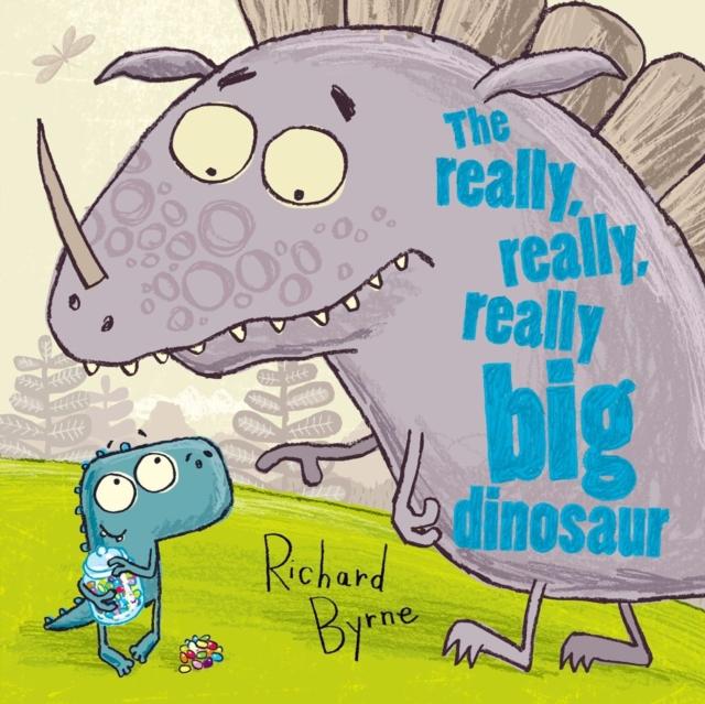 The Really, Really, Really Big Dinosaur the grassy street