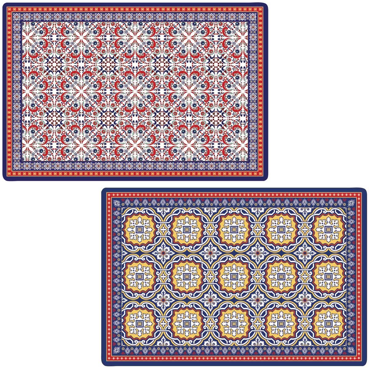 Набор салфеток под горячее Easy Life Марокко, 4 штEL-R0172/MOROНабор Easy Life Марокко, состоящий из 4 салфеток под горячее, идеально впишется в интерьер современной кухни.Салфетки, выполненные из пластика, не впитывают влагу, легко моются, выдерживают температуру до 100°С.Каждая хозяйка знает, что салфетка под горячее - это незаменимый и очень полезный аксессуар на каждой кухне. Ваш стол будет не только украшен оригинальной салфеткой, но и сбережен от воздействия высоких температур ваших кулинарных шедевров.Размер салфетки: 45 см х 30 см.Итальянская компания Easy Life (Nuova R2S) - является лидером производства кухонной посуды и аксессуаров для дома в Италии. Центральный офис компании находится в Италии, производство расположено в Италии и Китае.Концепция выпускаемой продукции заключается в создании единой дизайнерской линии предметов сервировки стола, оформления интерьера кухни или столовой комнаты. Вся продукция производится из современных и экологически чистых материалов: фарфора, стекла, пластика и дерева.Продукция компании Easy Life (Nuova R2S) отличается современным дизайном, и легкостью в эксплуатации. Компания работает в тесном сотрудничестве с лучшими итальянскими художниками и дизайнерами.