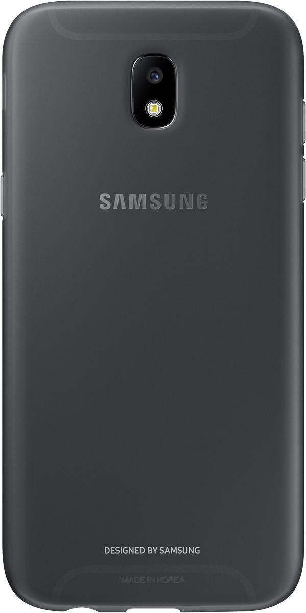 Samsung Jelly Cover чехол для Galaxy J5 (2017), BlackSAM-EF-AJ530TBEGRUОтличный чехол-накладка, который сможет защитить заднюю часть смартфона отпотертостей, царапин, грязи, пыли илегких ударов. Чехол практически неувеличивает габариты ивес устройства.