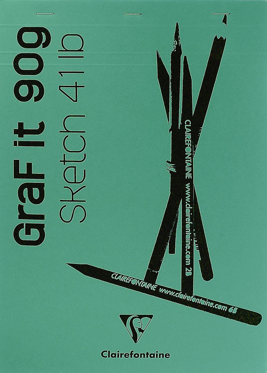 Блокнот Clairefontaine Graf It, для сухих техник, с перфорацией, цвет: зеленый 2, формат A4, 80 листов96623С_зеленый 2Блокнот Clairefontaine Graf It, для сухих техник, с перфорацией, цвет: зеленый 2, формат A4, 80 листов