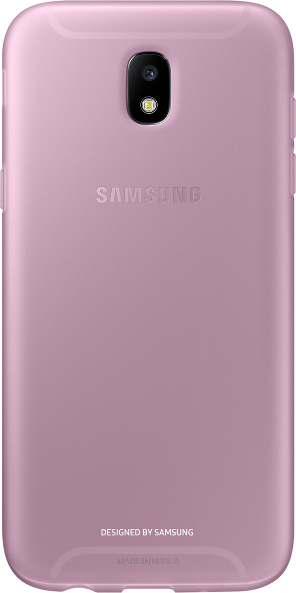 Samsung Jelly Cover чехол для Galaxy J5 (2017), PinkSAM-EF-AJ530TPEGRUОтличный чехол-накладка, который сможет защитить заднюю часть смартфона отпотертостей, царапин, грязи, пыли илегких ударов. Чехол практически неувеличивает габариты ивес устройства.