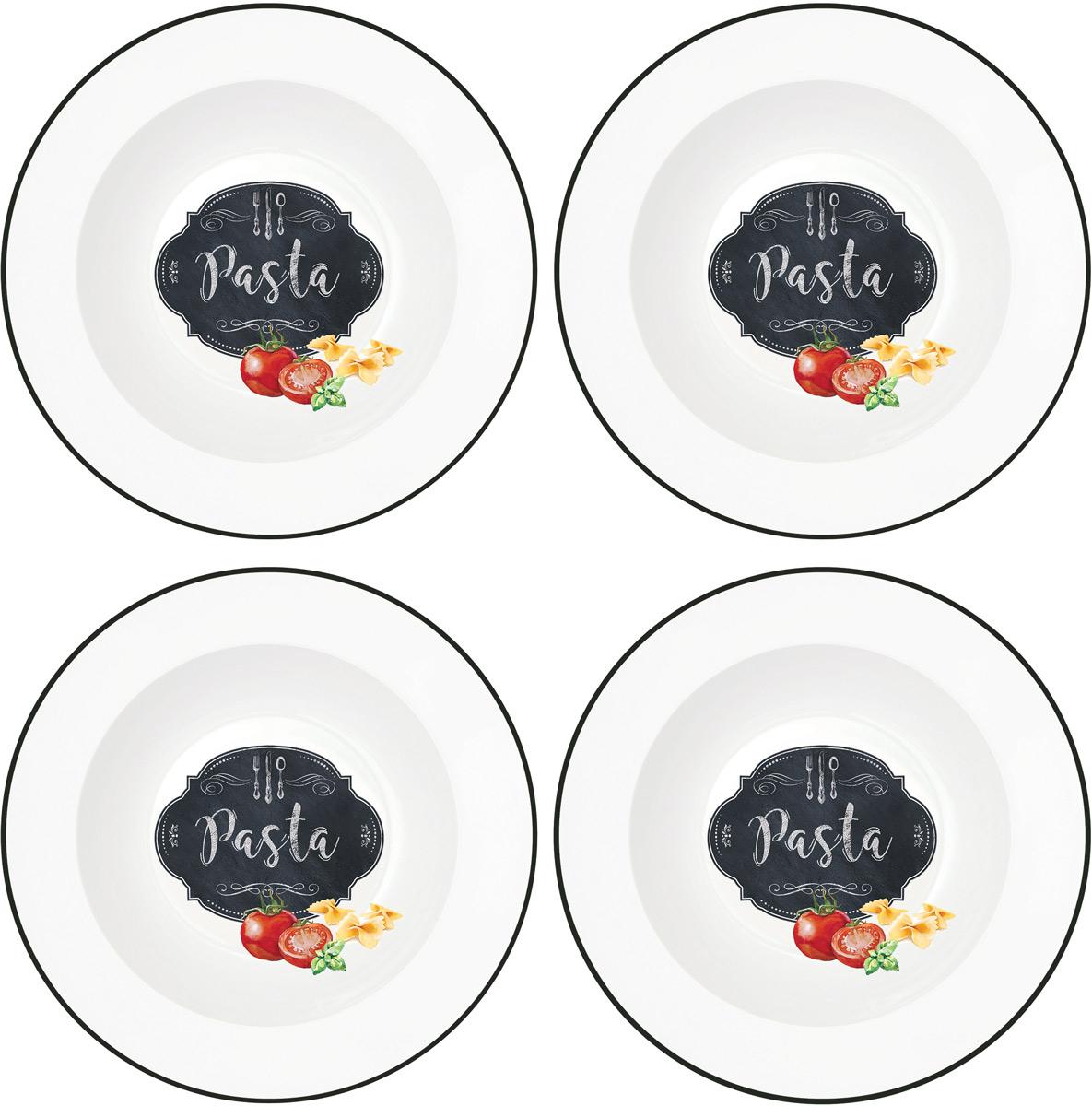 Набор тарелок Easy Life Кухня в стиле Ретро, диаметр 22 см, 4 штEL-R0819/KIBPНабор Easy Life Кухня в стиле Ретро состоит из четырех тарелок. Изделия, изготовленные из высококачественного фарфора, сочетают в себе изысканный дизайн с максимальной функциональностью. Тарелки предназначены для холодных и горячих продуктов. Такие тарелки незаменимы в поездках на природу и на пикниках.