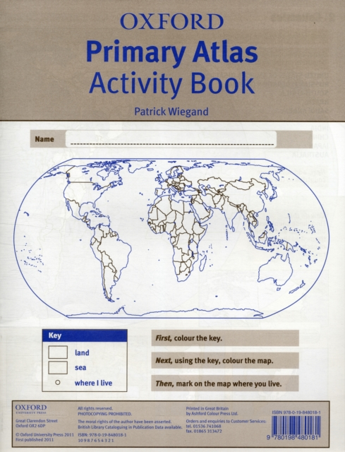 Oxford Primary Atlas Activity Book (2011) the picture atlas