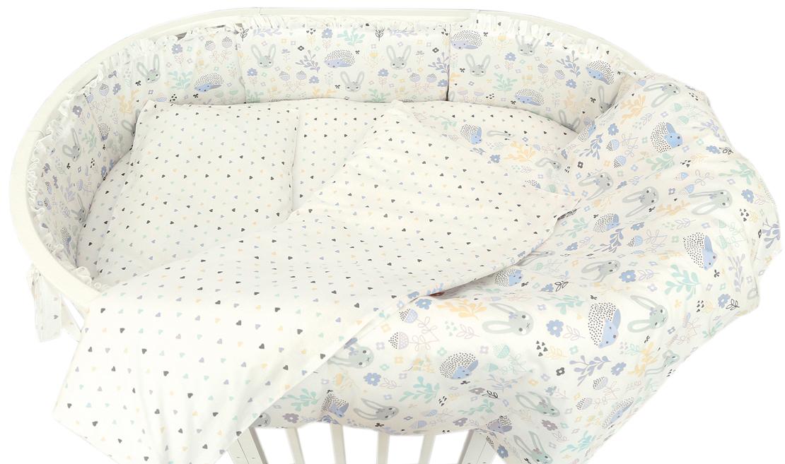 Baby Nice Борт комбинированный Лесная поляна цвет голубой S733/1 -  Бортики, бамперы
