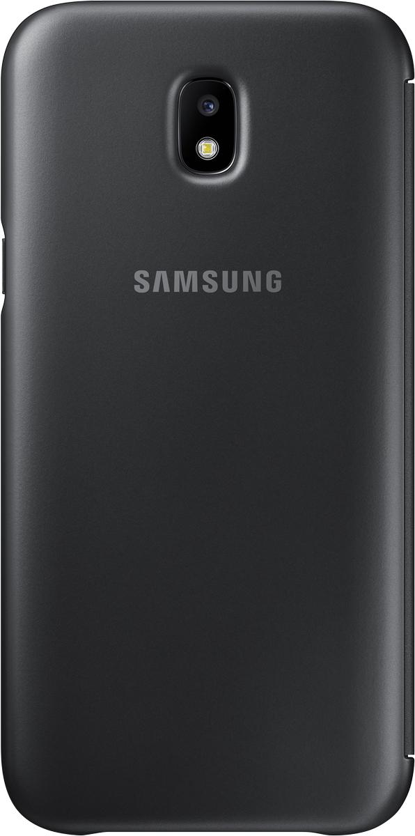 Samsung Wallet Cover чехол для Galaxy J5 (2017), BlackSAM-EF-WJ530CBEGRUЧехол-книжка защищает корпус устройства отвнешних повреждений. Высококачественные материалы обеспечат долгий срок службы как чехла так исмартфона. Эргономичный дизайн сделает использование гаджета еще более удобным, атонкие формы неувеличат размеры устройства.