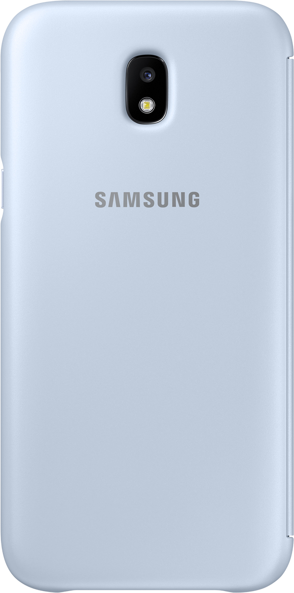 Samsung Wallet Cover чехол для Galaxy J5 (2017), Light BlueSAM-EF-WJ530CLEGRUЧехол-книжка защищает корпус устройства отвнешних повреждений. Высококачественные материалы обеспечат долгий срок службы как чехла так исмартфона. Эргономичный дизайн сделает использование гаджета еще более удобным, атонкие формы неувеличат размеры устройства.