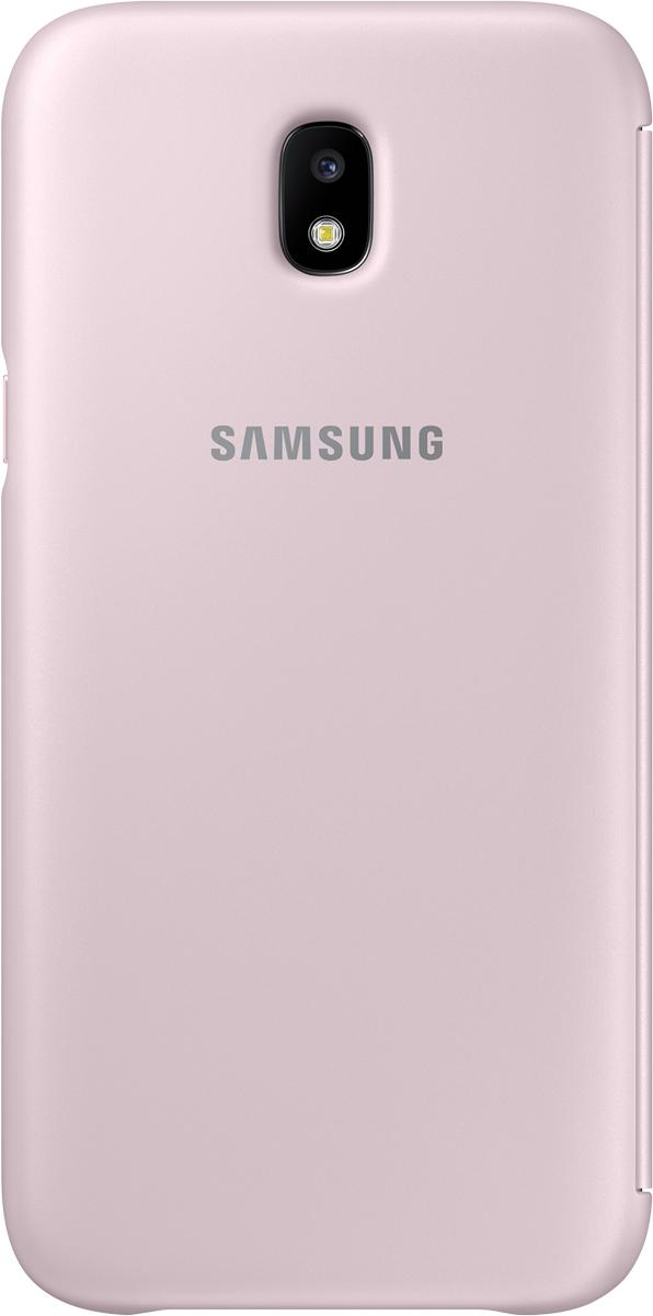Samsung Wallet Cover чехол для Galaxy J5 (2017), PinkSAM-EF-WJ530CPEGRUЧехол-книжка защищает корпус устройства отвнешних повреждений. Высококачественные материалы обеспечат долгий срок службы как чехла так исмартфона. Эргономичный дизайн сделает использование гаджета еще более удобным, атонкие формы неувеличат размеры устройства.