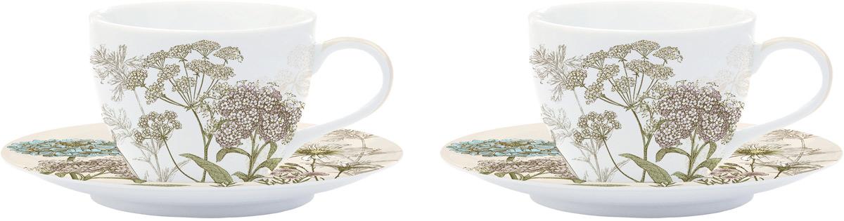 Сервиз кофейный Easy Life Ботаника, цвет: бежевый, 110 мл, 4 предметаEL-R0977/BOTBКофейный сервиз Easy Life изготовлен из высококачественного фарфора. В комплекте 2 чашки и 2 блюдца. Кофейный сервиз Easy Life прекрасно подойдет для вашей кухни и великолепно украсит стол. Изящный дизайн и красочность оформления кружки и блюдца придутся по вкусу и ценителямклассики, и тем, кто предпочитает утонченность и изысканность.Объем чашки: 110 мл.