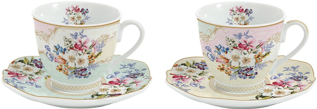 Набор чайный Easy Life Восточный сад, 225 мл, 4 предметаEL-R1070/ORIGЧайный набор Easy Life состоит из 2 чашек и 2 блюдец. Изделия выполнены выполнены из фарфора.Оригинальный дизайн, несомненно, придется вам по вкусу. Чайный набор Easy Life украсит ваш кухонный стол, а также станетзамечательным подарком к любому празднику. Объем чашки: 225 мл.