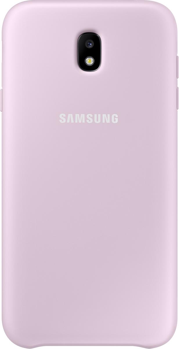 Samsung Dual Layer Cover чехол для Galaxy J7 (2017), PinkSAM-EF-PJ730CPEGRUУдобный чехол-накладка для GalaxyJ7 (2017), отлично подойдет для тех, кто хочет надежно защитить смартфон отвнешних повреждений.