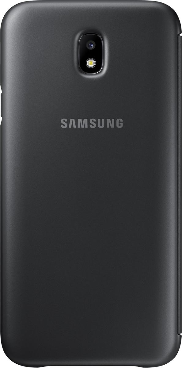 Samsung Wallet Cover чехол для Galaxy J7 (2017), BlackSAM-EF-WJ730CBEGRUЧехол-книжка защищает корпус устройства отвнешних повреждений. Высококачественные материалы обеспечат долгий срок службы как чехла так исмартфона. Эргономичный дизайн сделает использование гаджета еще более удобным, атонкие формы неувеличат размеры устройства.