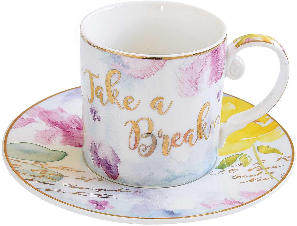 Чайная пара Easy Life Любовь. EL-R1561/LOVEEL-R1561/LOVEЧайная пара Easy Life Любовь состоит из чашки и блюдца. Оригинальный яркий дизайн, несомненно, придется вам по вкусу.Чайная пара Easy Life Любовь украсит ваш кухонный стол, а также станет замечательным подарком к любому празднику.