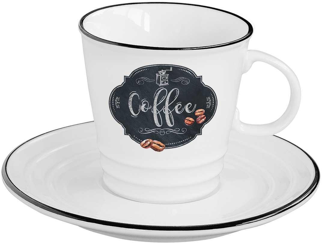 Чайная пара Easy Life Кухня в стиле Ретро. Кофе, 2 предметаEL-R1601/KIBCЧайная пара Easy Life Кухня в стиле Ретро. Кофе состоит из чашки и блюдца.Оригинальный яркий дизайн, несомненно, придется вам по вкусу. Чайная пара Easy Life Кухня в стиле Ретро. Кофе украсит ваш кухонный стол, атакже станет замечательным подарком к любому празднику.