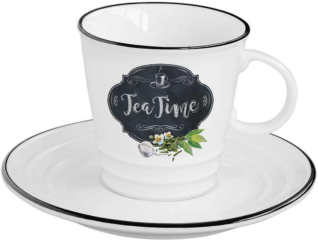 Чайная пара Easy Life Кухня в стиле Ретро. ЧайEL-R1601/KIBTЧайная пара Easy Life Кухня в стиле Ретро. Чай состоит из чашки и блюдца. Оригинальный яркий дизайн, несомненно, придется вам по вкусу.Чайная пара Easy Life Кухня в стиле Ретро. Чай украсит ваш кухонный стол, а также станет замечательным подарком к любому празднику.