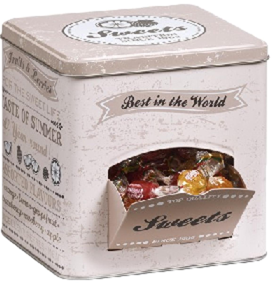 Коробка для чайных пакетиков Zeller, цвет: бежевый, 15 х 15 х 15,2 см19161Коробка для чая Zeller изготовленная из высококачественного металла и оформленная оригинальным рисунком станет незаменимым помощником на кухне. Емкость легко закрывается крышкой. Оригинальный дизайн позволит сделать такую емкость отличным подарком на любой праздник.
