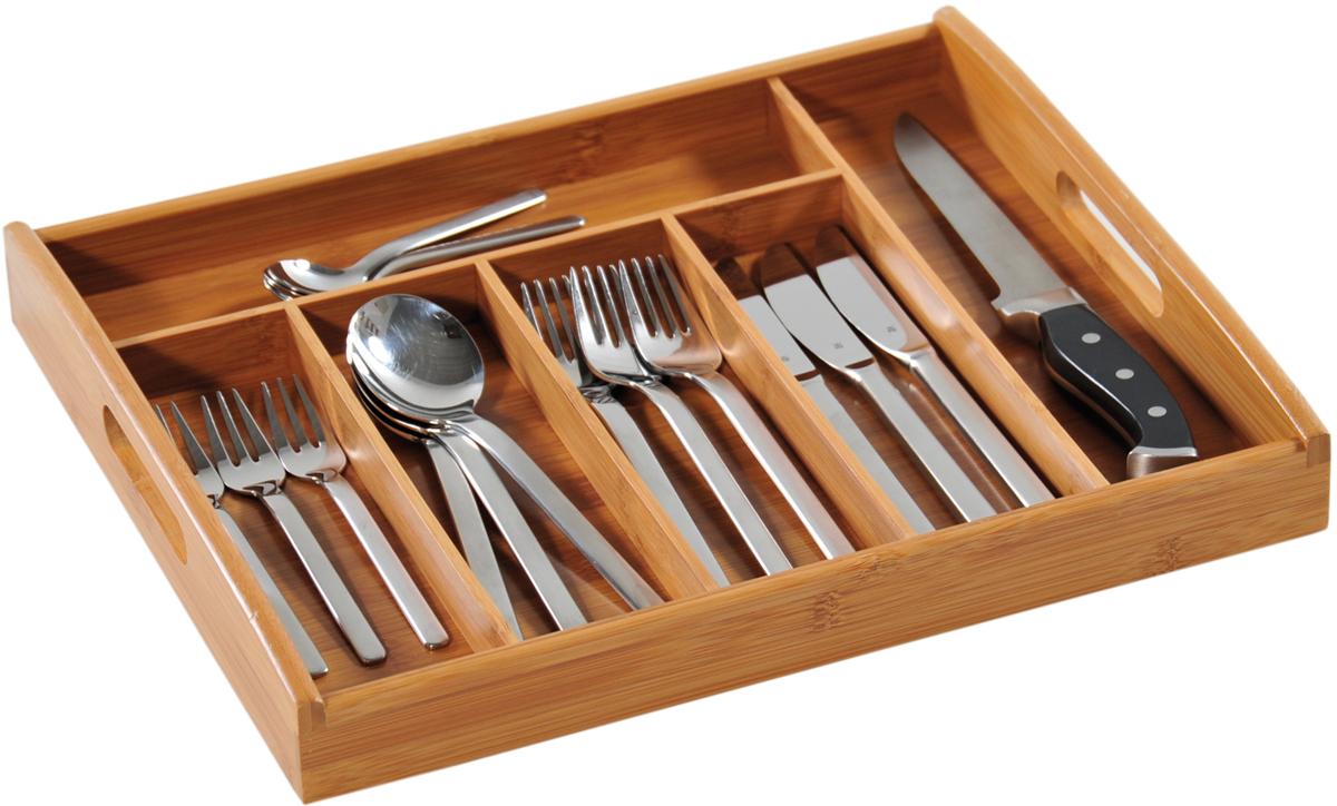 Подставка для столовых приборов Kesperd, с ручками, цвет: коричневый, 38 х 32 х 4 см подставка для столовых приборов и салфеток rosenberg jch 1466