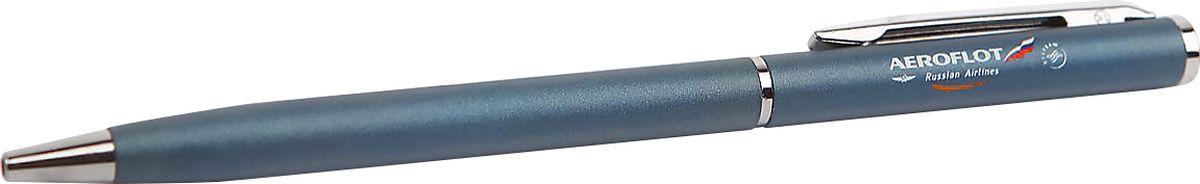 Аэрофлот Ручка шариковая Slim цвет синий2200001306Шариковая ручка — символ скрепленных договоренностей и идеальный презент для деловых партнеров. Стильный металлизированный корпус с хромированной отделкой украшен символикой Аэрофлота.Ручка является многоразовой, она без труда разбирается и в ней возможно поменять стержень.