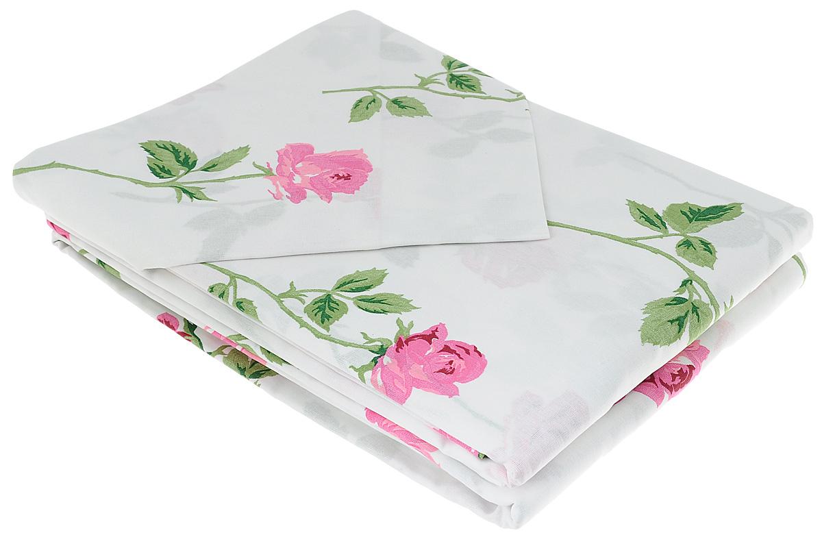 Комплект белья Гаврилов-Ямский Лен, 2-спальный, наволочки 70х70,цвет: белый
