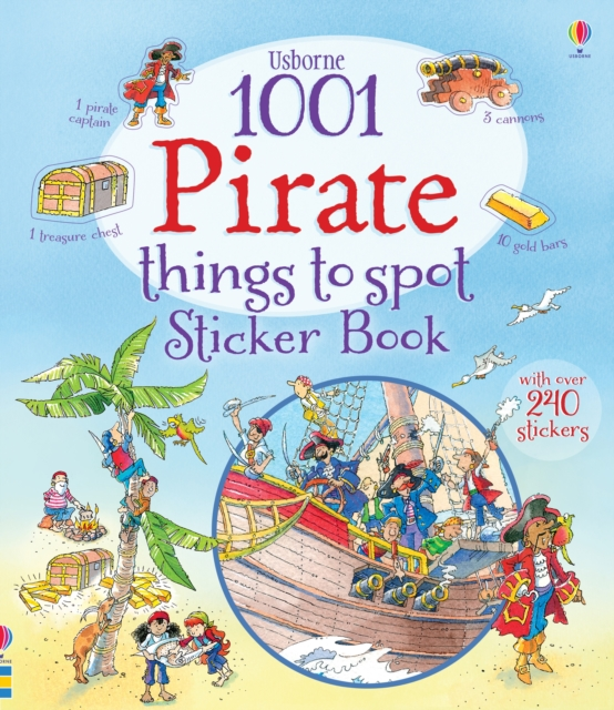 1001 Pirate Things to Spot Sticker Book donerty gillian 1001 things to spot long ago